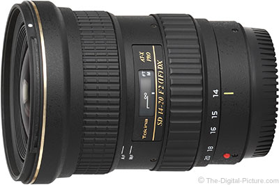 Balance of Tokina 14-20mm f/2 AT-X Pro DX Lens Test Results