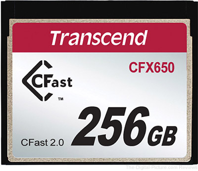 Transcend CFX650 256GB CFast 2.0 Flash Memory Card - $499.95 Shipped (Reg. $599.95)