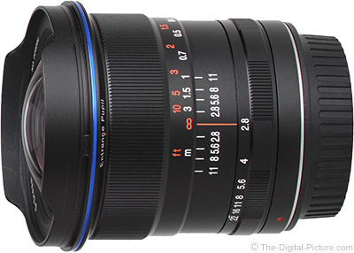 Several Venus Optics Laowa 12mm f/2.8 Zero-D Lenses In Stock at B&H