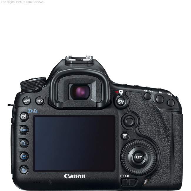 Canon EOS 5D Mark III Back View Comparison