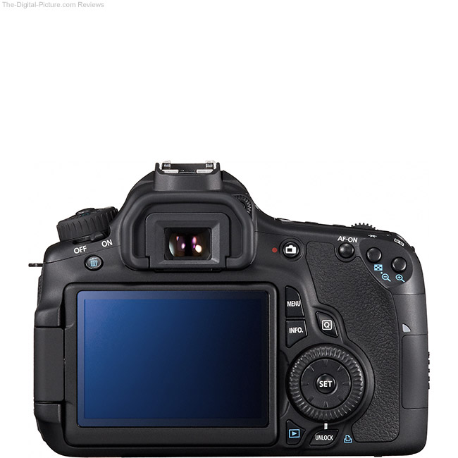 Canon EOS 60D Back View Comparison