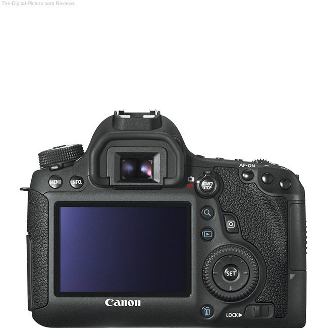 Canon EOS 6D Back View Comparison