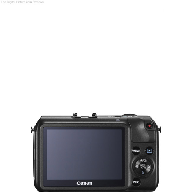Canon EOS M Back View Comparison