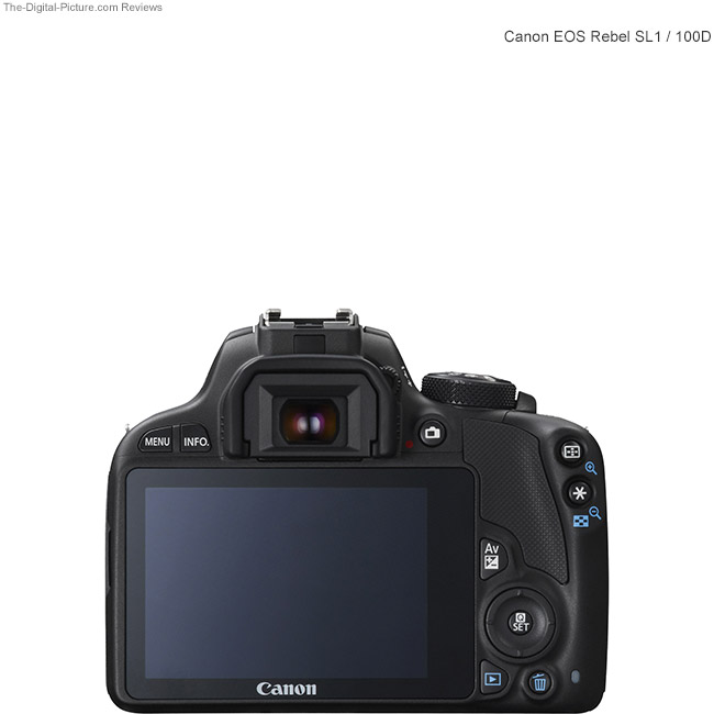 Canon EOS Rebel SL1 / 100D Back View Comparison