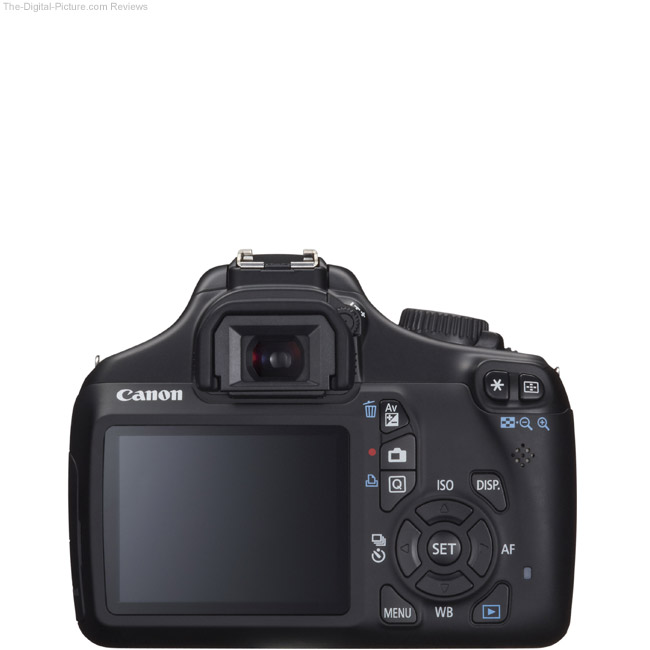 Canon EOS Rebel T3 / 1100D Back View Comparison