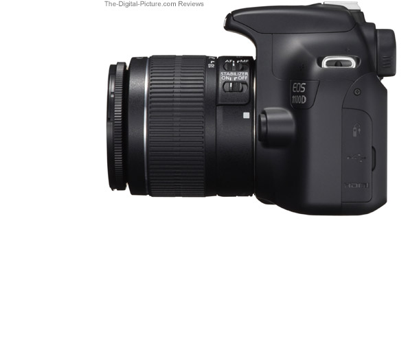 Canon EOS Rebel T3 / 1100D Side View Comparison