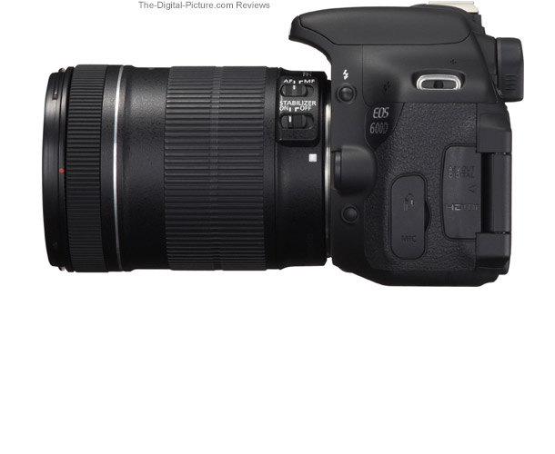 Canon EOS Rebel T3i / 600D Side View Comparison