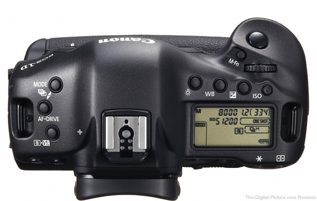Canon EOS 1D X Top View Comparison