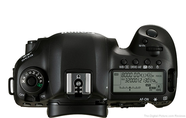 Canon EOS 5Ds DSLR Camera Top View Comparison