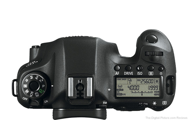 Canon EOS 6D Top View Comparison