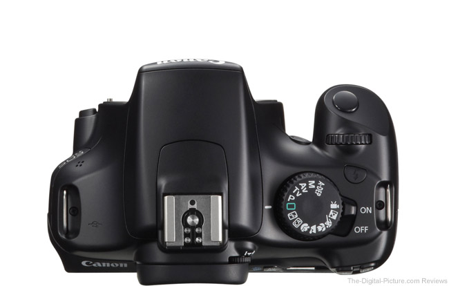 Canon EOS Rebel T3 / 1100D Top View Comparison
