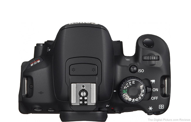 Canon EOS Rebel T4i / 650D Top View Comparison
