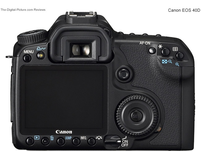 Canon EOS 40D Back Comparison