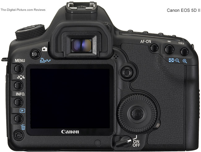 Canon EOS 5D Mark II Back Comparison