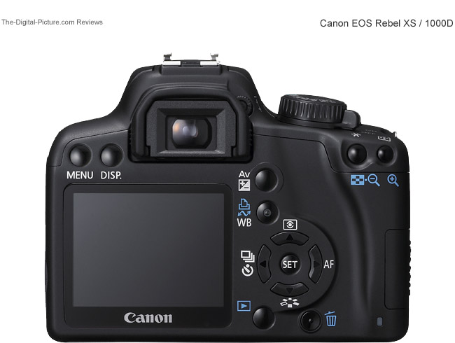 Canon EOS Rebel XS / 1000D Back View Comparison