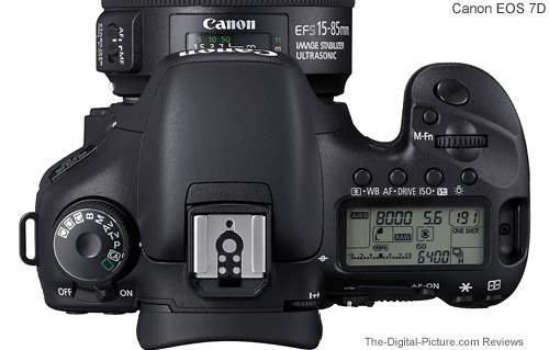 Canon EOS 7D Top View Comparison