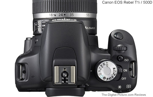 Canon EOS Rebel T1i / 500D Top View Comparison