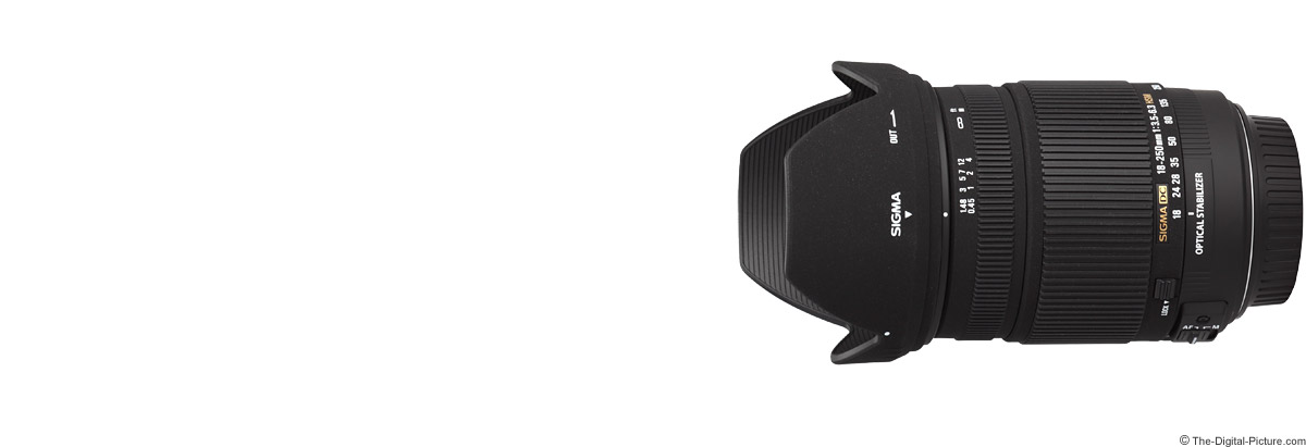 Sigma 18-250mm f/3.5-6.3 DC OS HSM Lens
