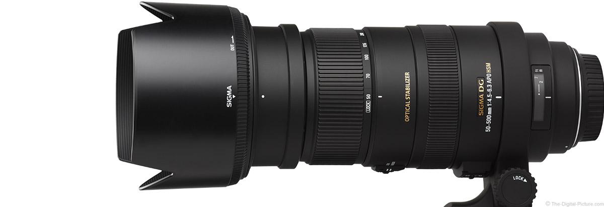 Sigma 50-500mm f/4.5-6.3 DG OS HSM Lens