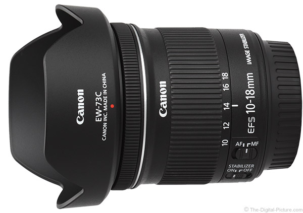 Canon EF-S 10-18mm f/4.5-5.6 IS STM Lens Product Images