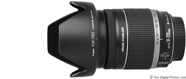 Canon EF-S 18-200mm f/3.5-5.6 IS Lens Product Images