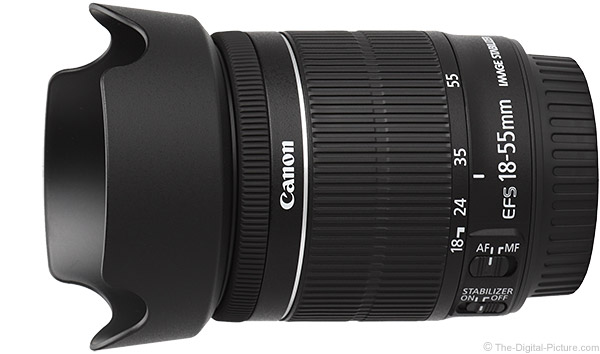 Canon EF-S 18-55mm f/3.5-5.6 IS STM Lens Product Images