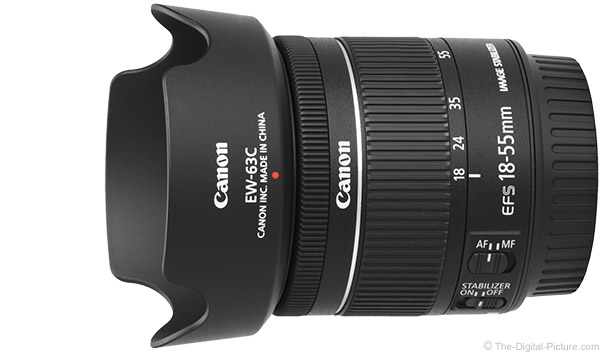 Canon EF-S 18-55mm f/4-5.6 IS STM Lens Product Images