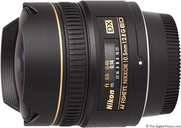 Nikon 10.5mm f/2.8G AF DX Fisheye Lens Product Images