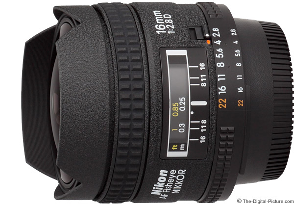 Nikon 16mm f/2.8D AF Fisheye Lens Product Images