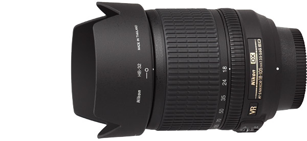 Nikon 18-105mm f/3.5-5.6G AF-S VR DX Lens Product Images