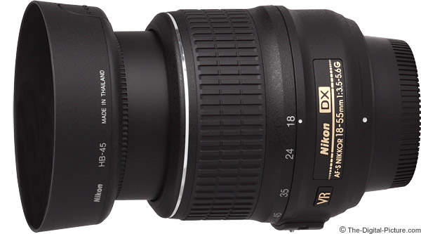 Nikon 18-55mm f/3.5-5.6G AF-S DX VR Lens Product Images