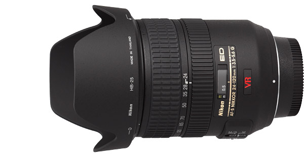 Nikon 24-120mm f/3.5-5.6G AF-S VR Lens Product Images
