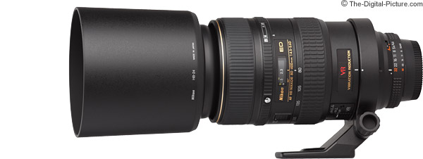 Nikon 80-400mm f/4.5-5.6D AF VR Lens Product Images