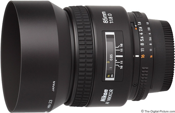 Nikon 85mm f/1.8D AF Lens Product Images