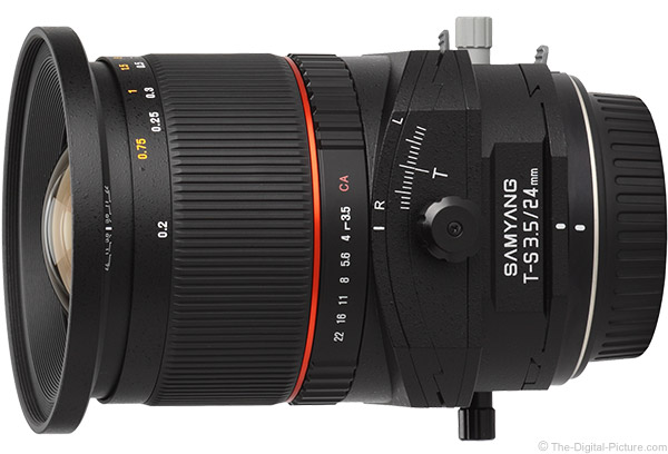 Samyang 24mm f/3.5 Tilt-Shift Lens Product Images