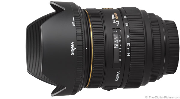 Sigma 24-70mm f/2.8 EX DG HSM Lens Product Images