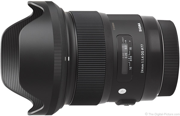 Sigma 24mm f/1.4 DG HSM Art Lens Product Images