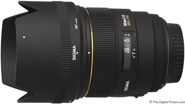 Sigma 85mm f/1.4 EX DG HSM Lens Product Images