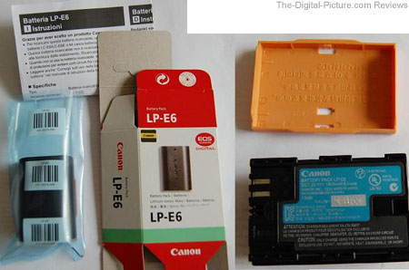 Counterfeit Canon LP-E6 Battery Pack
