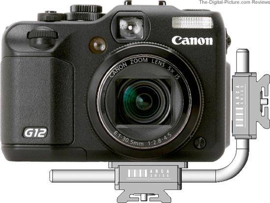 Arca Swiss Mini L-Bracket on Canon PowerShot G12