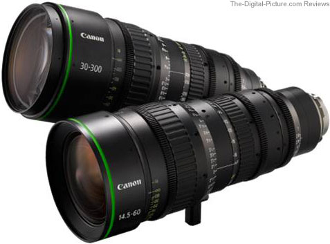 Canon FK14.5-60 Wide-Angle Cine Zoom Lens and the Canon FK30-300 Telephoto Cine Zoom Lens