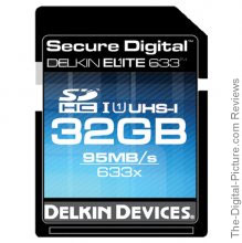 Delkin 633X UHS-I SDHC Memory Card