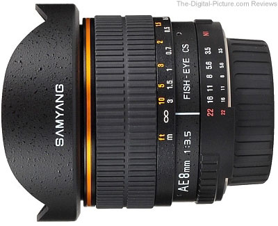 Samyang AE 8mm f/3.5 Aspherical IF MC Fish-eye CS for Nikon