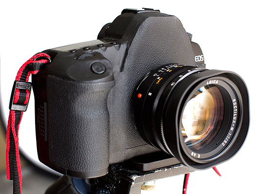 Canon 5D Mark II with Leica Mount