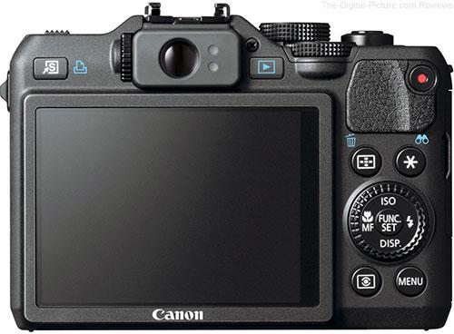 Canon PowerShot G15 Digital Camera Back