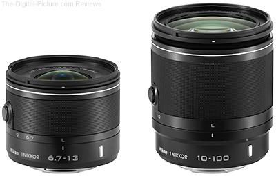 1 NIKKOR 6.7-13mm f3.5-5.6 VR and 1 NIKKOR 10-100mm f4.0-5.6 VR