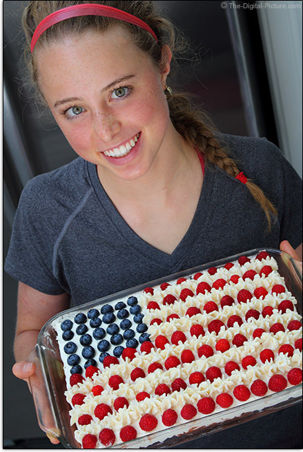 Brianna and Her American Flag Cake