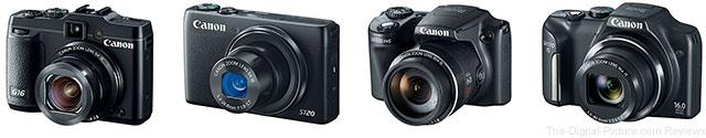 Canon Announces Four PowerShot Cameras