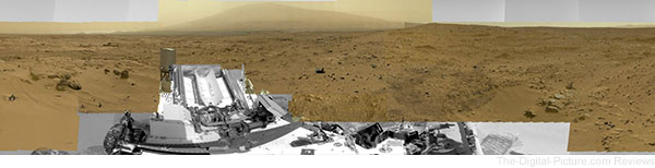 GigaPan Aided High-Resolution Panoramic Image of Mars