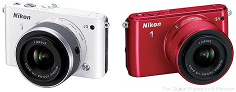 Nikon 1 S1 and J3 Mirrorless Cameras